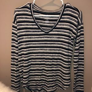 american eagle striped soft and sexy plush sweater